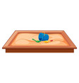large sand pit plaground equipment vector image vector image
