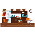 laundry room and furniture vector image vector image