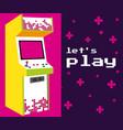 lets play arcade vector image