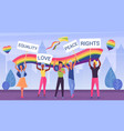 lgbt pride march parade vector image