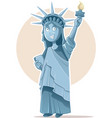 liberty statue caricature celebrating vector image