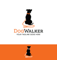 logo for dog walking pet related site or business vector image vector image