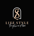 luxury fashion inspiration logo with letter sl vector image