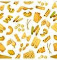 Macaroni or italian pasta seamless pattern