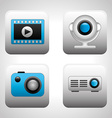 media player vector image