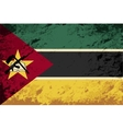 Mozambique flag Grunge background vector image vector image