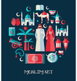 Muslim set of icons set of Arabian vector image vector image