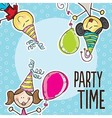 Party Time Icons vector image