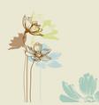 pastel floral bouquet vector image vector image