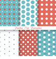 Pastel seamless patterns Polka Dot vector image