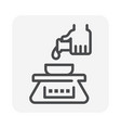 pharmaceutical production icon vector image
