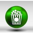 Popcorn design on blue backgroundclean logo vector image