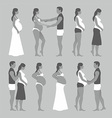 Pregnant woman with a man vector image vector image