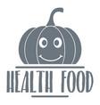 pumpkin logo simple gray style vector image vector image