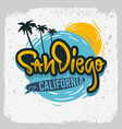 san diego california surfing surf design ha vector image vector image