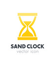 sand clock hourglass icon on white vector image vector image