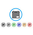 schedule calendar grid rounded icon vector image vector image