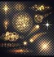set glows bright star light fireworks vector image vector image
