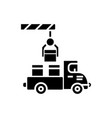 shipment icon black sign on vector image