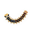 silkworm caterpillar vector image vector image