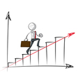 Simple Business People Steady Growth Chart vector image vector image