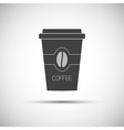 Simple icon paper cup of coffee vector image vector image