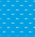 small ocean wave pattern seamless blue vector image vector image