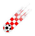 soccer ball with the flag of croatia vector image vector image