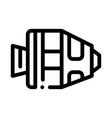 spaceship return unit icon outline vector image