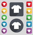 t-shirt icon sign A set of 12 colored buttons and vector image vector image
