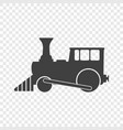 the locomotive icon on a vector image vector image