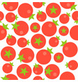tomato seamless pattern flat design for use vector image