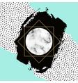 trendy geometric background modern scandinavian vector image