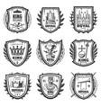 vintage royal coat arms set vector image vector image