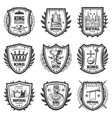 Vintage royal coat of arms set