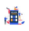 we are hiring - flat design style colorful vector image