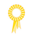 Yellow award ribbon vector image vector image