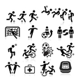 Soccer player icons set vector image