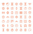 49 timer icons vector image vector image