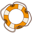 aged flotation hoop with tether vector image vector image