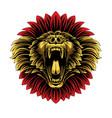 angry baboon head esport logo vector image vector image