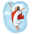 ascension jesus raising hands in sky vector image