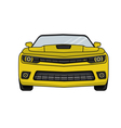 Auto yellow car in a flat style vector image