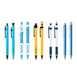 ballpoint pens and mechanical pencils set vector image vector image