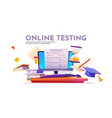 banner online testing exam or survey vector image