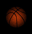 basketball dots silhouette vector image vector image