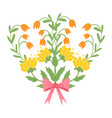 beautiful easter wreath elegant floral collection vector image