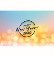 beautiful new year 2020 bokeh lights background vector image