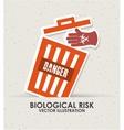 biological risk vector image vector image