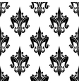 black and white seamless fleur-de-lis pattern vector image vector image